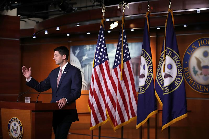 "Implementing more stringent work requirements would burnish Ryan's legacy by partially fulfilling a lifelong goal: making the American safety net a little less like a ""hammock.""  (Chip Somodevilla via Getty Images)"