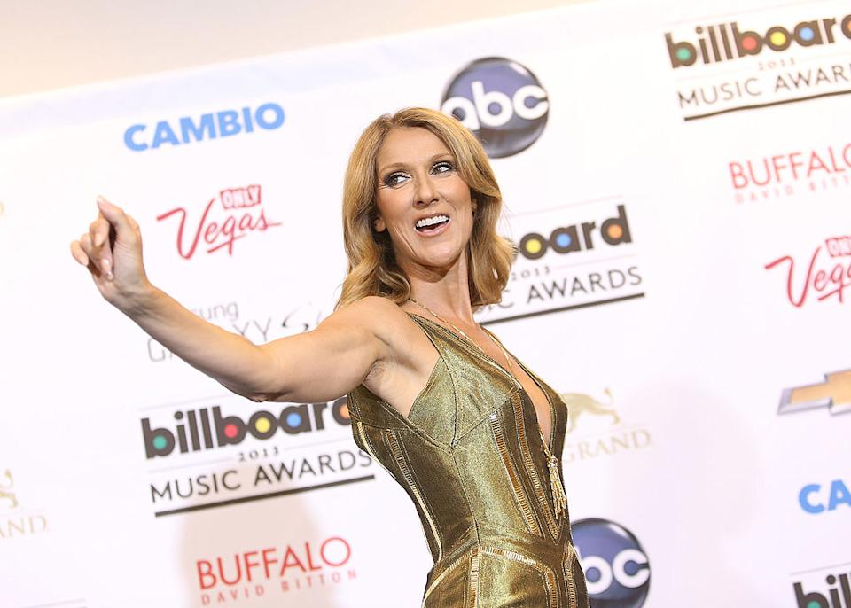Céline Dion attends the press room at the 2013 Billboard Music Awards held at MGM Grand Resort and Casino on May 19, 2013 in Las Vegas, Nevada.