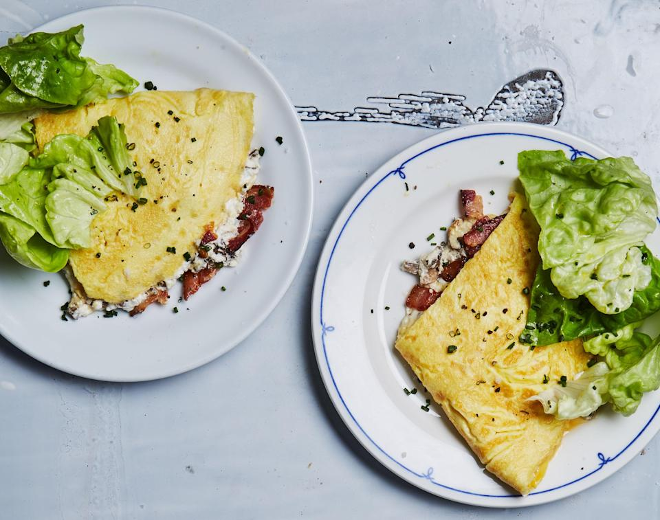 """<a href=""""https://www.bonappetit.com/recipe/omelet-with-bacon-mushrooms-and-ricotta?mbid=synd_yahoo_rss"""" rel=""""nofollow noopener"""" target=""""_blank"""" data-ylk=""""slk:See recipe."""" class=""""link rapid-noclick-resp"""">See recipe.</a>"""