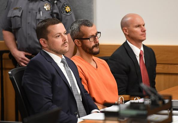 Christopher Watts in court for his arraignment hearing at the Weld County Courthouse in 2018.