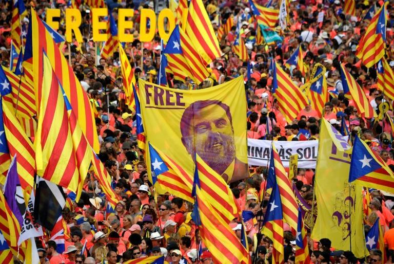 The separatists were convicted over a banned referendum in October 2017 that was followed by a short-lived declaration of independence