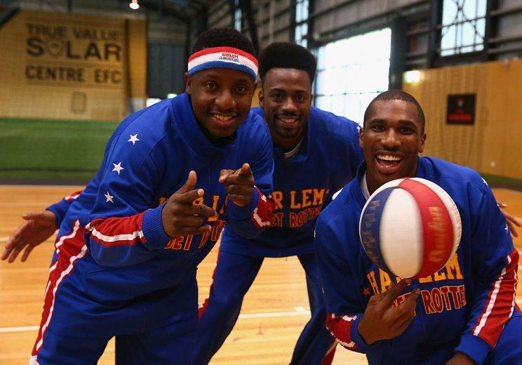 The Harlem Globetrotters always put on a show. (Getty Images)