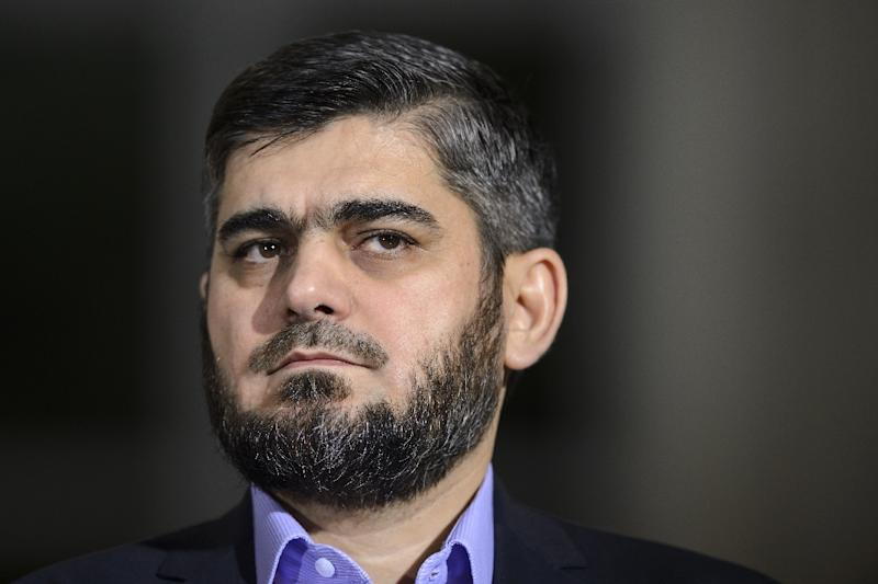 Chief negotiator for the main Syrian opposition umbrella group the High Negotiations Committee, Mohammed Alloush, has resigned (AFP Photo/Fabrice Coffrini)