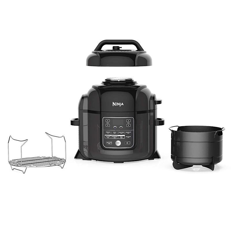 Ninja OP401 Foodi 8-Quart Press, Steamer, Air Fryer All-in-one Multi-Cooker, Black / Gray. (Photo: Amazon)