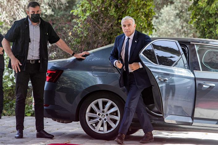 <p>Doors opening? Yair Lapid, leader of the Yesh Atid (There Is a Future) Party, has been tasked with forming a coalition government to break Israel's political impasse</p> (AFP via Getty Images)