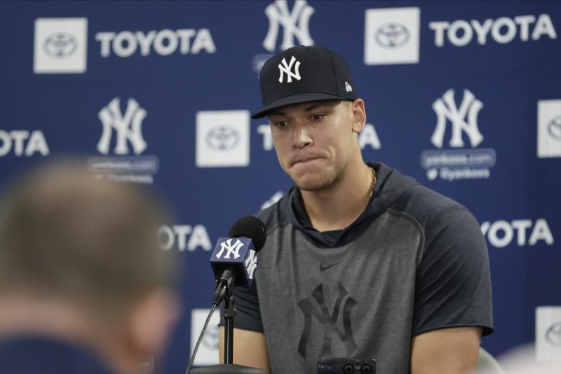 New York Yankees outfielder Aaron Judge.