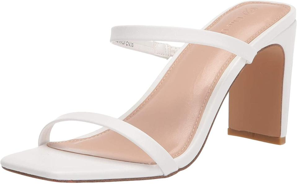 <p>OK, I adore these <span>The Drop Avery Heeled Sandals</span> ($50).</p>