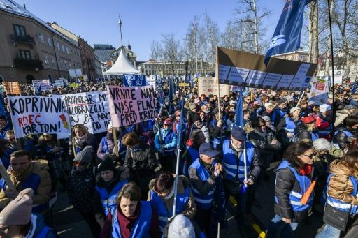 Recent moves by the Slovenian government to relax austerity have not been enough to stave off a wave of public-sector strike such as this one by teachers in February 2018