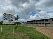 A general view of the school following a shooting, in Kumba