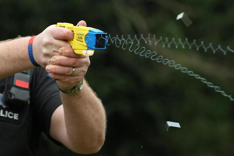 A two-shot Taser has been approved for police use in England and Wales (PA)