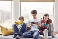 <p>Change the way they do screen time with a <span>Nintendo Switch Lite</span> ($200) system, which is the latest addition to the Nintendo Switch family of systems completely dedicated to handheld play, allowing them to game on the go.</p>