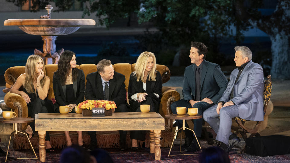 'Friends: The Reunion' brought all six original cast members together for the first time in 17 years. (WarnerMedia/HBO Max/Sky)