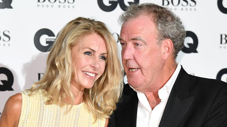 Jeremy Clarkson and Lisa Hogan at the GQ Men of the Year Awards 2017. (Doug Peters/Empics Entertainment)