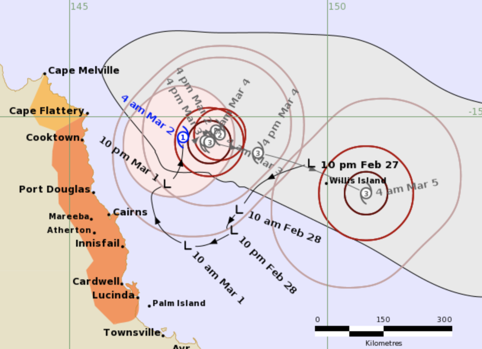 Tropical Cyclone Niran is seen on a weather map.