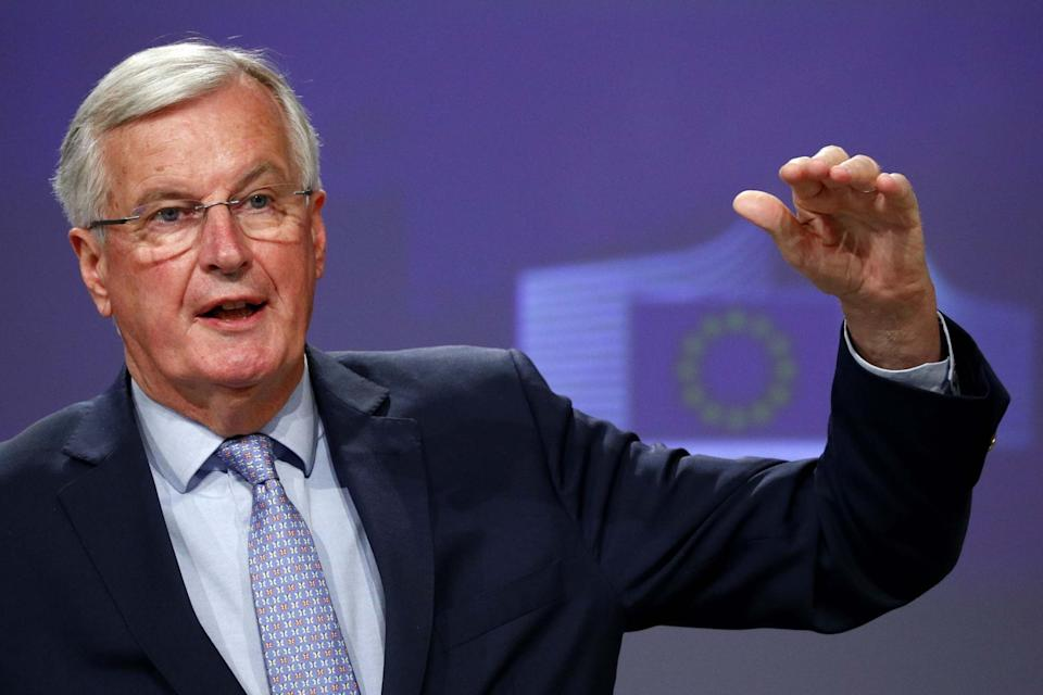 Michel Barnier said the EU continues to believe an agreement is possible (POOL/AFP via Getty Images)