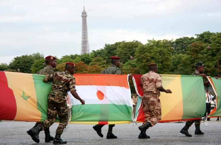 Bring out the flags: African countries joined France's Bastille Day celebrations in 2010