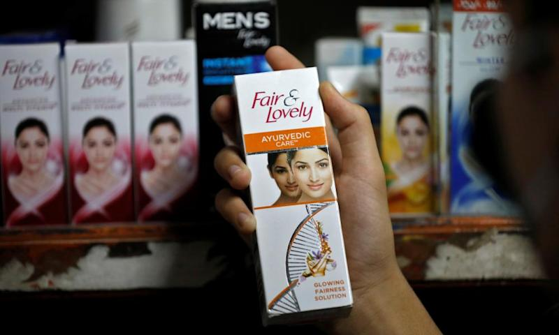 Fair & Lovely products in a shop in Ahmedabad, India.