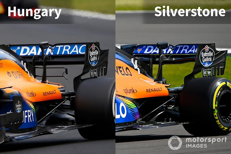 "McLaren MCL35 rear comparison<span class=""copyright"">Motorsport Images</span>"