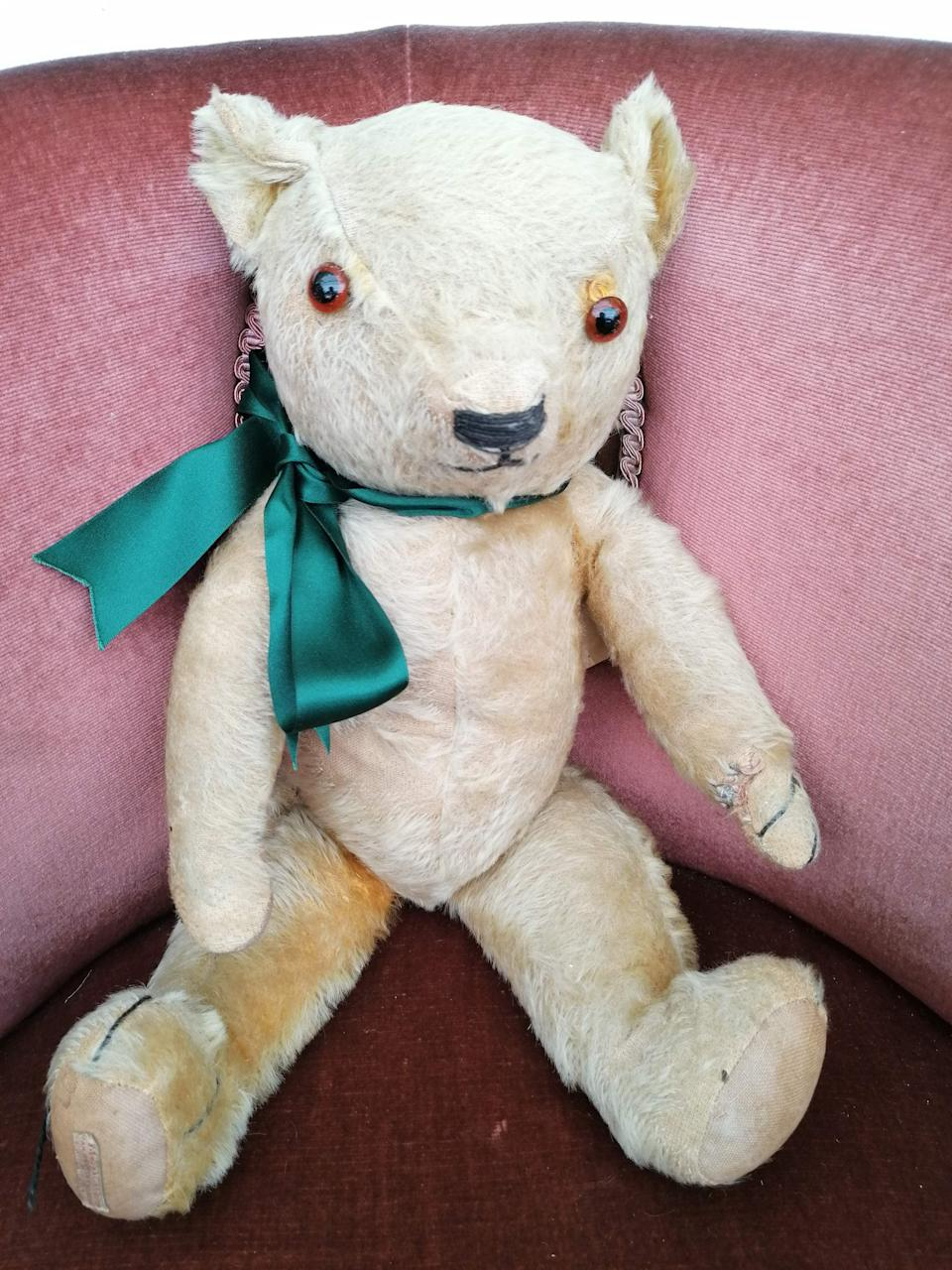 Wartime teddy bear Blitzy will be sold at auction after being found in an attic (Hansons/PA) (PA Media)