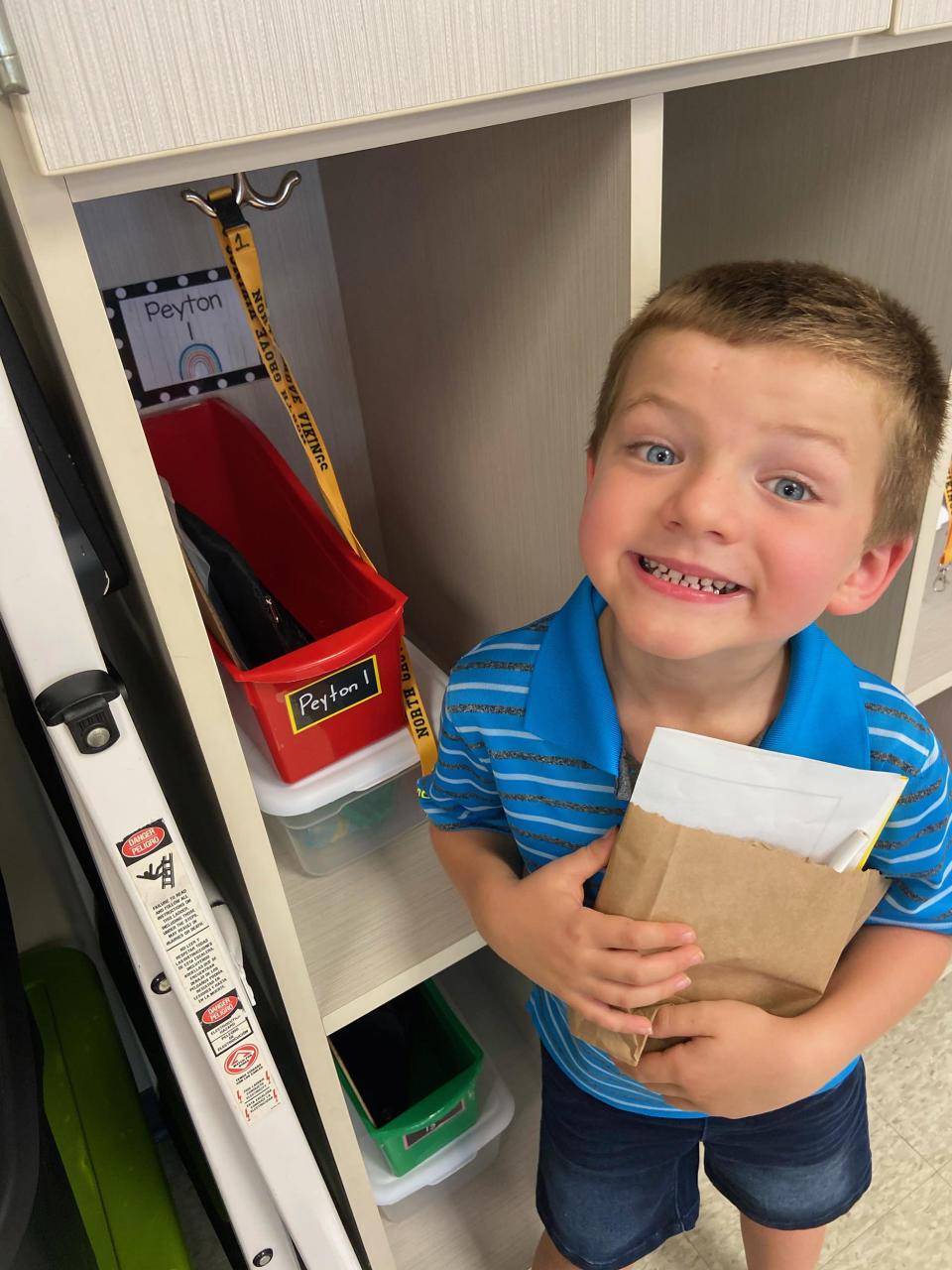 Peyton, now 6, accidentally swallowed magnets when he strung them together like a snake and pretended he was eating spaghetti. His mom, Jessica MacNair, wants to raise awareness about the dangers of tiny magnets. (Courtesy Jessica MacNair)