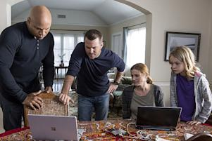 """Parallel Resistors"" -- Pictured: LL COOL J (Special Agent Sam Hanna), Chris O'Donnell (Special Agent G. Callen), Kandis Fay (Pamela Volonev) and Shree Crooks (Nadia Volonev). After a graduate student developing an electromagnetic weapon for the Navy is attacked, the NCIS team discovers a connection to international warfare. Also, Kensi continues grueling physical therapy for her spinal injury, on NCIS: LOS ANGELES, Sunday, Nov. 13 (8:00-9:00 PM, ET/PT), on the CBS Television Network. Photo: Paul Sarkis/CBS ©2016 CBS Broadcasting, Inc. All Rights Reserved."