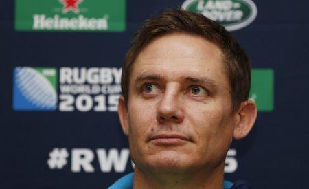 Rugby Union - Australia Press Conference - The Lensbury Hotel, Teddington, Middlesex - 27/10/15  Australia assistant coach Stephen Larkham during the press conference  Action Images via Reuters / Peter Cziborra  Livepic