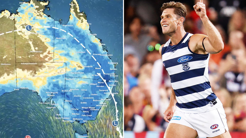 The Brisbane weather, pictured here for AFL grand final day.