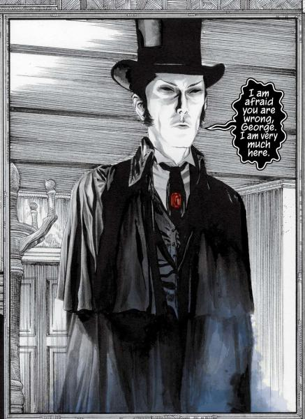 """In this image released by Vertigo, the character Morpheus is shown in """"The Sandman Overture,"""" the first issue of a six-issue limited series illustrated by artist J.H. Williams III which is to be made available on Wednesday, Oct. 30, 2013. (AP Photo/Vertigo)"""