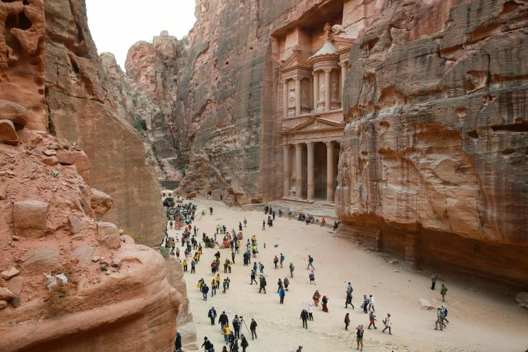 Indiana Jones, aka Harrison Ford, searched for the Holy Grail in Jordan's red rock archaeological city of Petra, one of the many locations chosen by Hollywood filmmakers to shoot movies