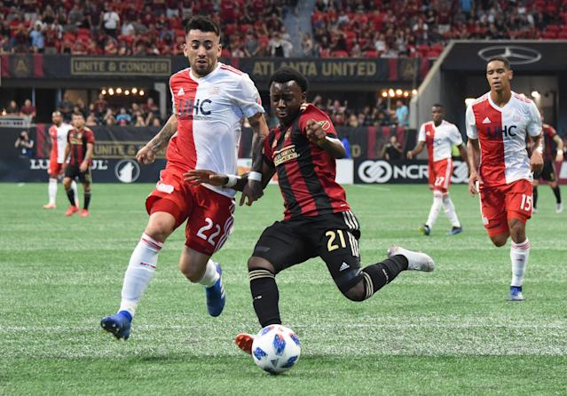 Just 17, left back George Bello (right) was expected to play a major role for Atlanta United this season before injuries intervened. (Adam Hagy/USA Today)