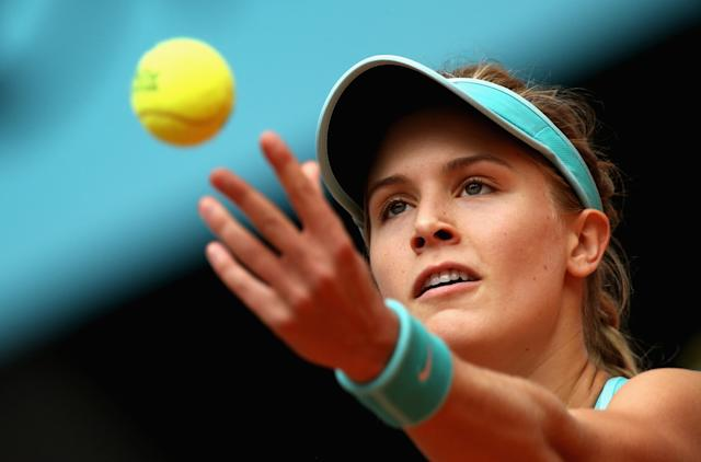 Up 6-0, 3-1 against Barbora Strycova, Bouchard loses in three sets. (Photo by Clive Brunskill/Getty Images)