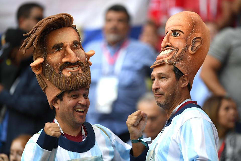 <p>Fans enjoy the pre match atmosphere prior to the 2018 FIFA World Cup Russia Group A match between Russia and Saudi Arabia at Luzhniki Stadium on June 14, 2018 in Moscow, Russia. (Photo by Matthias Hangst/Getty Images) </p>