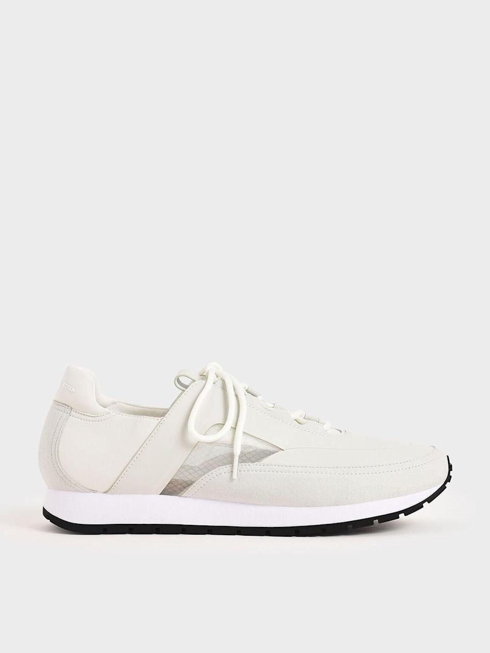 <p><span>Charles &amp; Keith White Lace-Up Trainers</span> ($50, originally $63)</p>