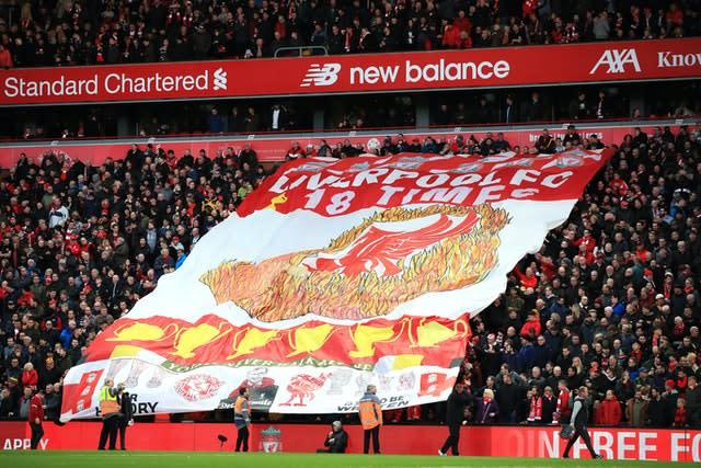 Liverpool have become unbeatable at Anfield (Peter Byrne/PA)