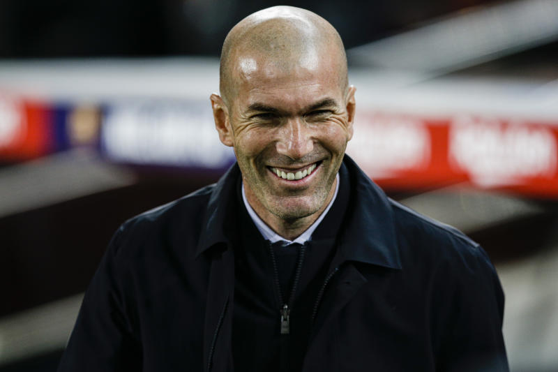 Zinedin Zidane from France coach of Real Madrid during La Liga match between FC Barcelona and Real Madrid at Camp Nou on December 18, 2019 in Barcelona, Spain. (Photo by Xavier Bonilla/NurPhoto via Getty Images)