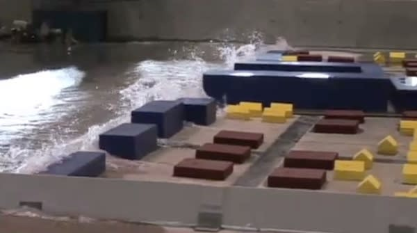 Tsunami Waves Amplified by Buildings