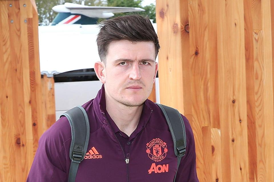 <p>Harry Maguire did travel with the Manchester United squad to Gdansk</p> (Manchester United via Getty Images)