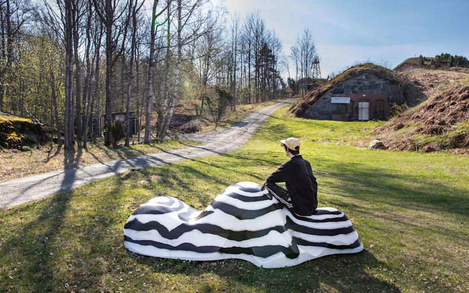 The Biennial has both indoor and outdoor works, such as this 'Archipelago of Past and Future' (pictured) - Maija Toivanen