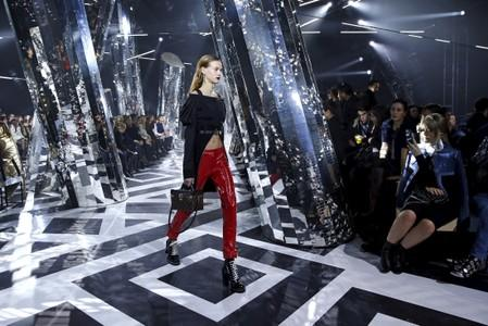 File photo of a model presenting a creation by French designer Nicolas Ghesquiere as part of his Fall/Winter 2016/2017 women's ready-to-wear collection show for Louis Vuitton in Paris
