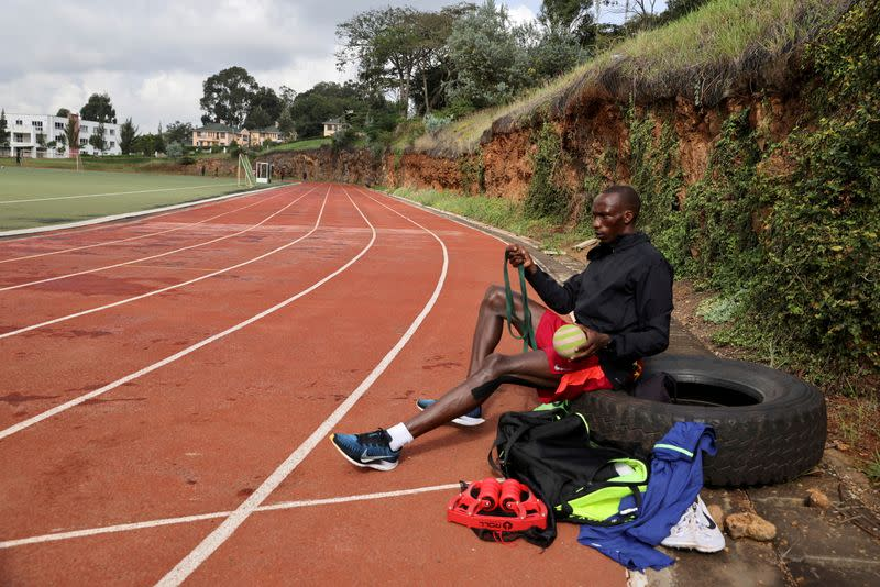FILE PHOTO: Kenya's Cheruiyot adjusts to reality of preparing for the Olympics in a pandemic