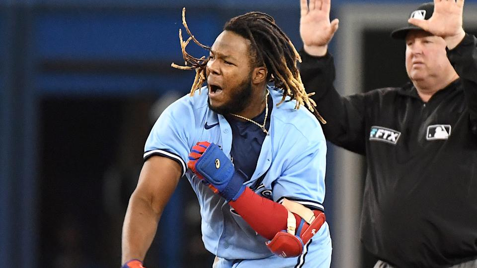 Vladimir Guerrero Jr. and the Blue Jays might have to play a sudden death game before they even get to the Wild Card Game. (Dan Hamilton-USA TODAY Sports)