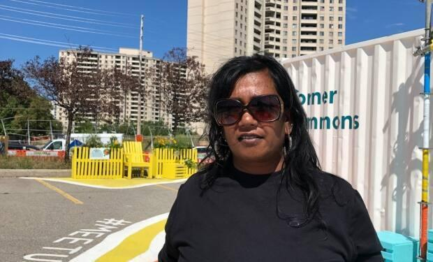 Butterfly GoPaul, a member of Jane Finch Action Against Poverty, says politicians in her riding don't know how to relate to people on the ground. (Shannon Martin/CBC - image credit)