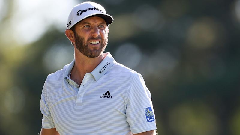 Johnson soars to five-stroke PGA lead on eagle wings