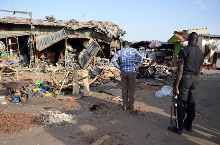 """While the Nigerian government insists that Boko Haram has been """"largely"""" defeated going into 2016, the jihadist group continues to wreak havoc by sending out suicide bombers, sometimes in droves (AFP Photo/)"""