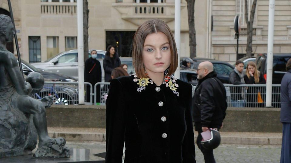 """<p><span>Although Emma Corrin was a newcomer when she was cast as Princess Diana in """"The Crown,"""" she's likely to become a very familiar face in the coming years. Her net worth is currently unknown, but the Mirror reported in 2020 that her modeling experience and emergence as a fashion influencer will soon pay dividends. </span></p> <p><span>The publication wrote that she's caught the attention of big brands that could result in her earning 5 million pounds — nearly $7 million — within a year. The report estimates that just a few years after that, she'll be making five times that amount. Beyond her burgeoning fashion career, it can be presumed that casting directors will want to chat with Corrin, as well, now that she's been nominated for an Emmy for outstanding lead actress in a drama series.</span></p> <p><em><strong>Read: </strong></em><em><strong><a href=""""https://www.gobankingrates.com/net-worth/celebrities/stars-surprising-first-job/?utm_campaign=1110520&utm_source=yahoo.com&utm_content=10&utm_medium=rss"""" rel=""""nofollow noopener"""" target=""""_blank"""" data-ylk=""""slk:These 42 Stars' Surprising First Jobs"""" class=""""link rapid-noclick-resp"""">These 42 Stars' Surprising First Jobs</a></strong></em></p> <p><small>Image Credits: J M HAEDRICH/SIPA/Shutterstock</small></p>"""