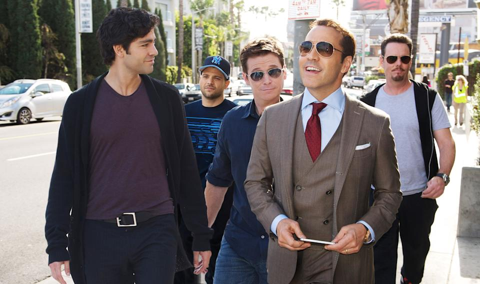 The core cast of 'Entourage' in a scene from the 2015 movie. Ellin's planned reboot would feature the entire ensemble returning. (Photo: Claudette Barius / © Warner Bros. / courtesy Everett Collection)