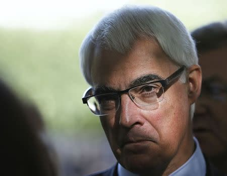 Alistair Darling, the leader of the campaign to keep Scotland part of the United Kingdom, campaigns in Edinburgh, Scotland September 8, 2014. REUTERS/Russell Cheyne
