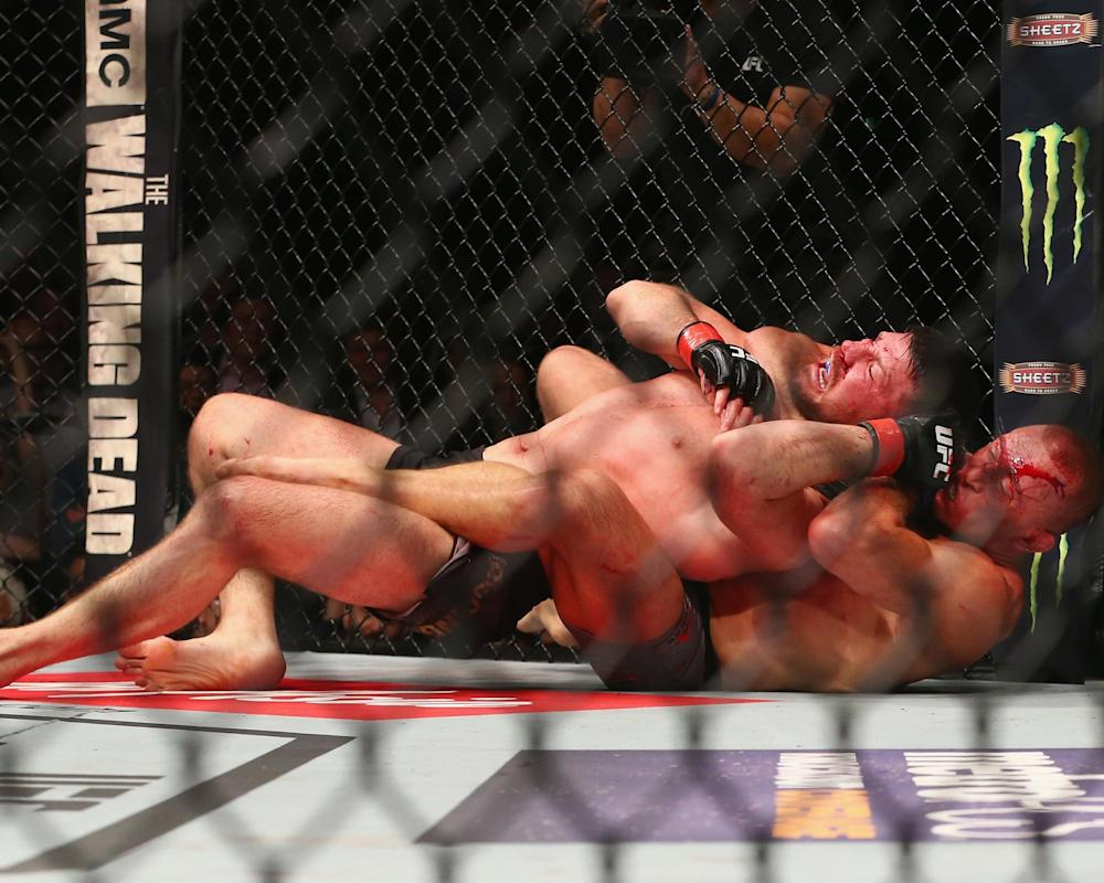 Bisping lost his title in the third round: Getty