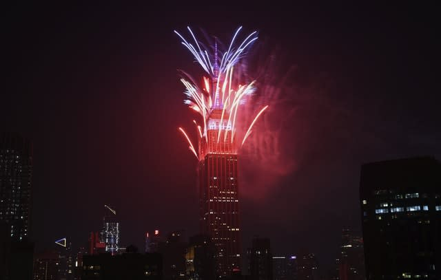 Empire State Building Fourth of July