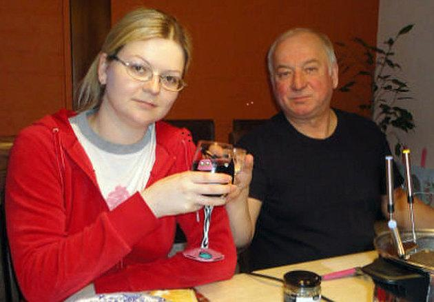 Sergei Skripal pictured with his daughter Yulia. They are both critically ill